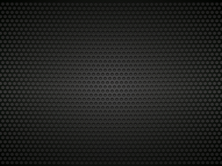 black perforated metal background Ilustrace
