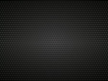black perforated metal background Illustration