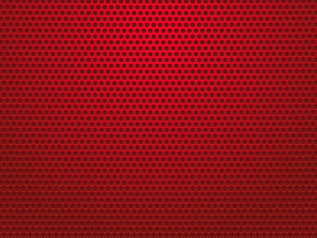 abstract red perforated metal background Vectores