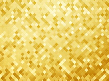 gold metallic background, mosaic tile pattern texture Standard-Bild - 104298829