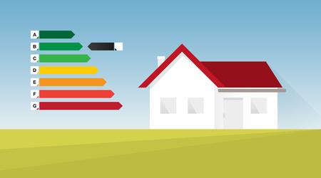 Energy efficient house vector illustration