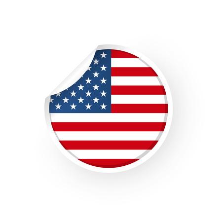 USA icon sticker Standard-Bild - 106229392