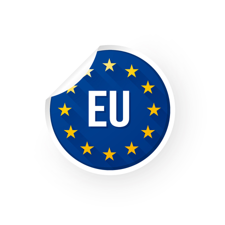 European Union icon sticker Standard-Bild - 106229400