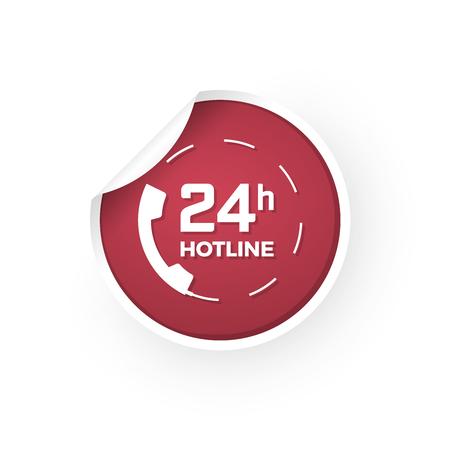 24 hours of support icon sticker Standard-Bild - 112177182