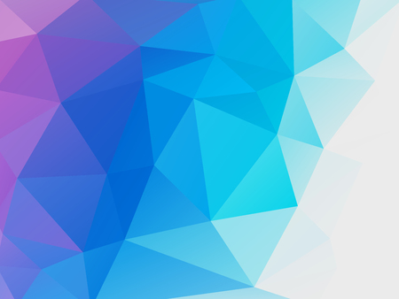 abstract blue purple low poly vector background Standard-Bild - 106229404