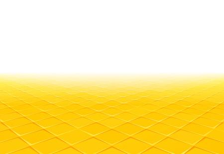 yellow tile perspective background Standard-Bild - 112177193