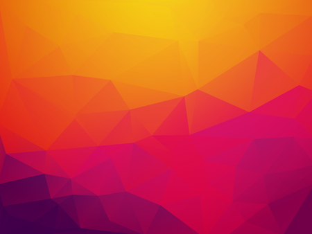 abstract orange purple sunset polygonal vector background Standard-Bild - 106229405