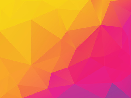 abstract yellow purple polygonal vector background Standard-Bild - 106229406