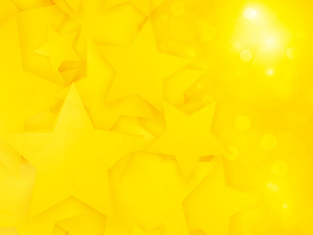 abstract party pattern with yellow stars Standard-Bild - 112177198