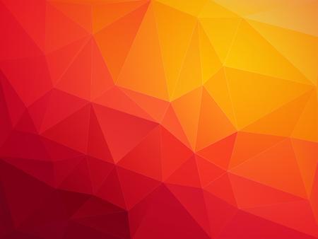 abstract red orange polygonal vector background Standard-Bild - 106229411