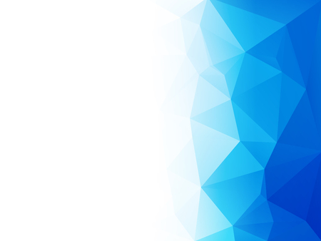abstract blue water low poly vector background Standard-Bild - 106229413
