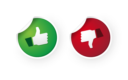 thumbs up and thumbs down icon stickers Standard-Bild - 112177205