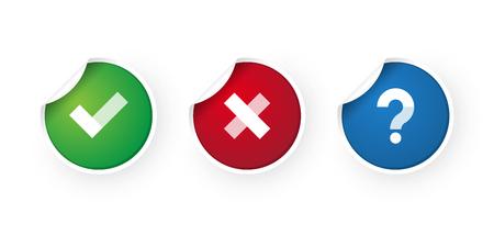 check mark and cancel stickers icon Standard-Bild - 106229417