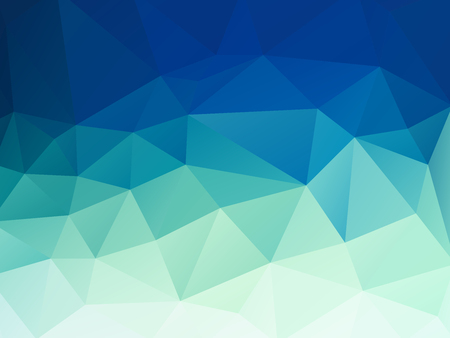 abstract green blue pastel polygonal vector background
