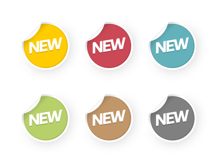 new icons colored stickers set Standard-Bild - 112177212