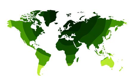 green waves world map background Standard-Bild - 107508204