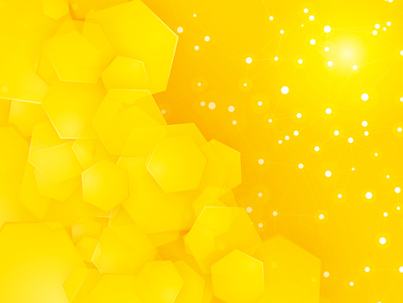 square party yellow background with white dots Standard-Bild - 107455385