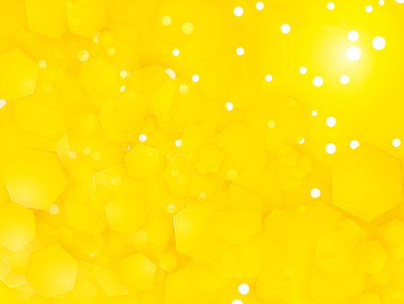 abstract yellow square party background with white circles Standard-Bild - 107453361