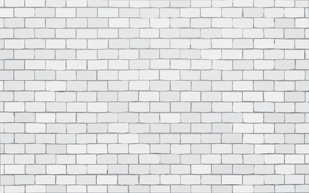 white brick wall vector illustration background Standard-Bild - 111606835