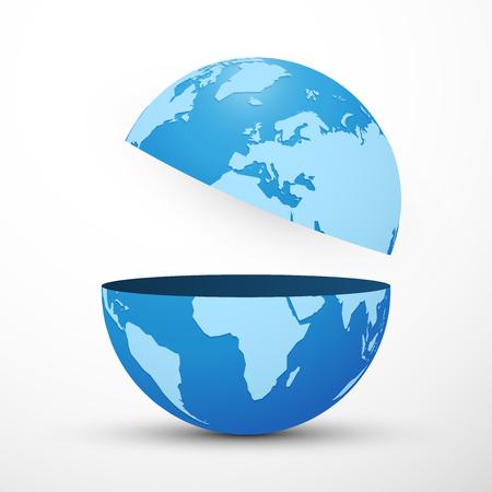 divided planet earth globe Vector Illustratie