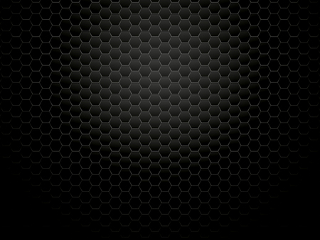 fond hexagonal en métal sombre Vecteurs