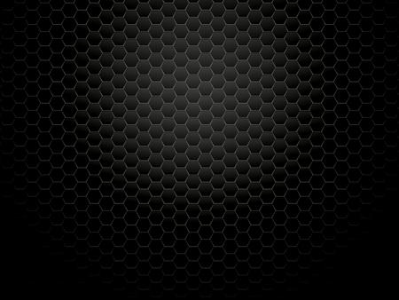 Fondo hexagonal de metal oscuro Ilustración de vector
