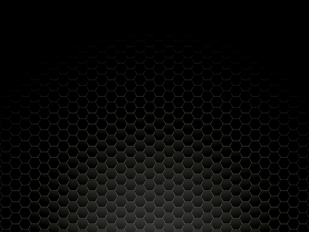 black metal hexagon background