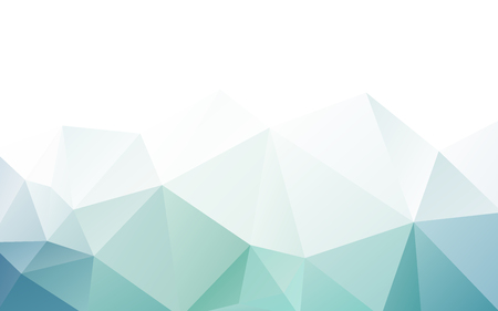 blue green triangle polygonal geometric design