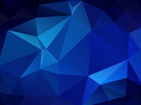 abstrakter polygonaler Hintergrund, blaues Mosaikmuster des Vektors