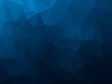 abstrait polygonale, motif de mosaïque bleu foncé de vecteur