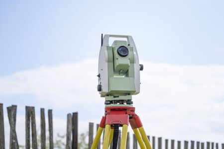 geodetic total station measures distances and angles for the preparation of map data