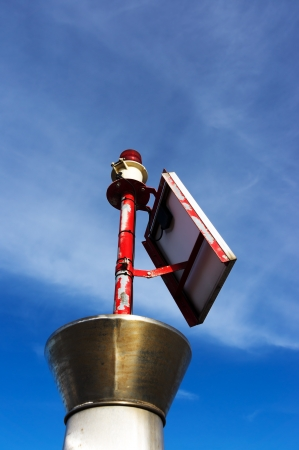 small lighthouse with red bulb Stock Photo - 17282938