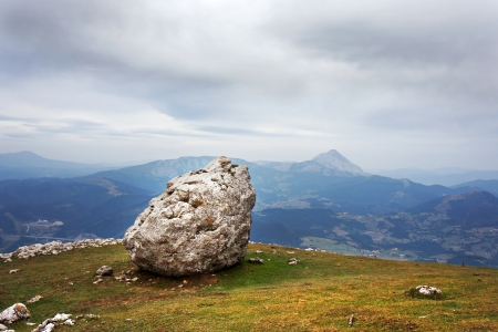 rockslide: big boulder in a rockslide