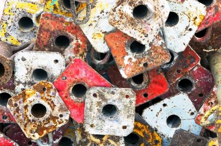 colorful metallic scaffold jacks of construction Stock Photo - 18648180