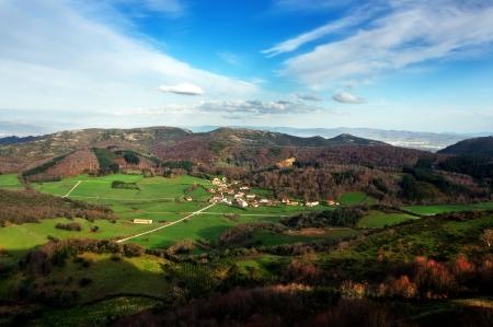 alava: Domaikia village, in Zuia, Alava  Basque Country