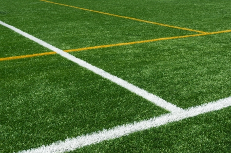 background of lines on football turf photo