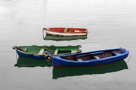 colorful boats on water Stock Photo - 19755352