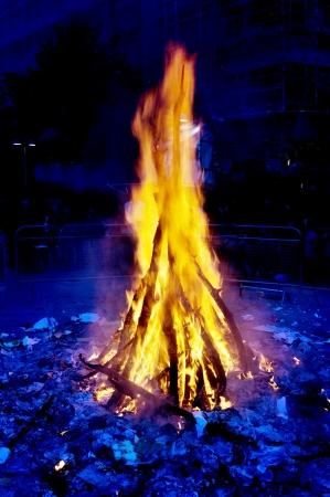 saint john eve bonfire celebration at summer solstice