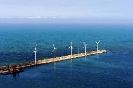 windfarm on the sea. Basque Country, Spain photo