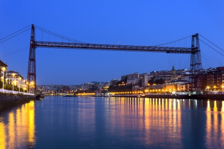Hanging bridge between Portugalete and Getxo. Vizcaya, Basque Country, Spain