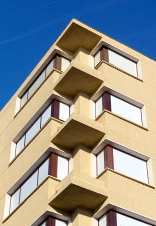 windows in a modern building with flats Stok Fotoğraf