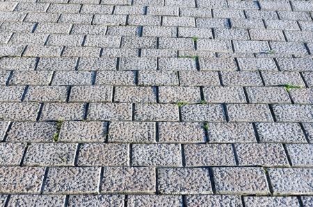 gray paving stones with textures photo