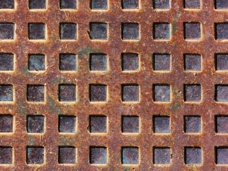 background with metallic textures on sewer photo