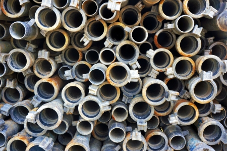 background of metallic pipes pattern Stock Photo - 23447586