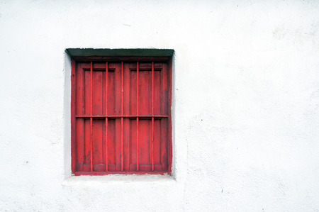 guard house: window guard on a old wall house facade