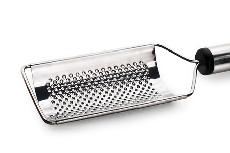 cheese grater isolated on white background photo