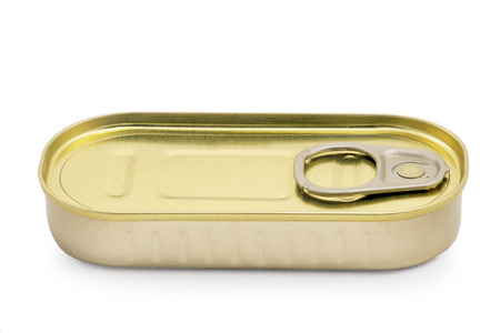 sardine can isolated on white
