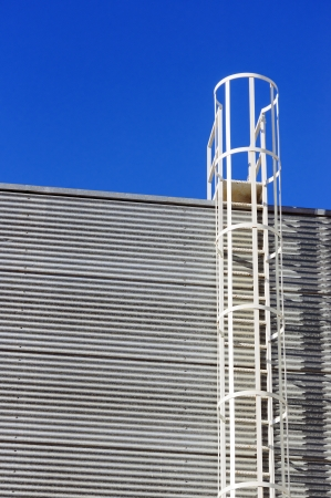 safety ladder on industrial facade