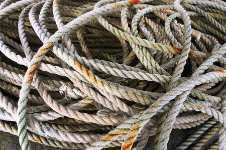 mess: background of fishing ropes mess
