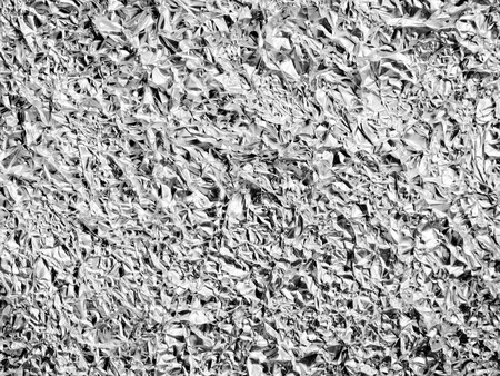 background of aluminum foil texture wrinkled photo